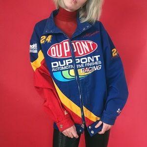 VTG 90s NASCAR Denim Jacket- Zipper Racing Jacket